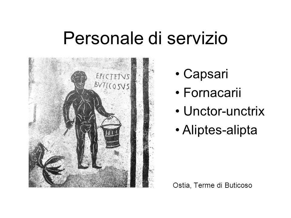 Personale di servizio Ostia, Terme di Buticoso Capsari Fornacarii Unctor-unctrix Aliptes-alipta