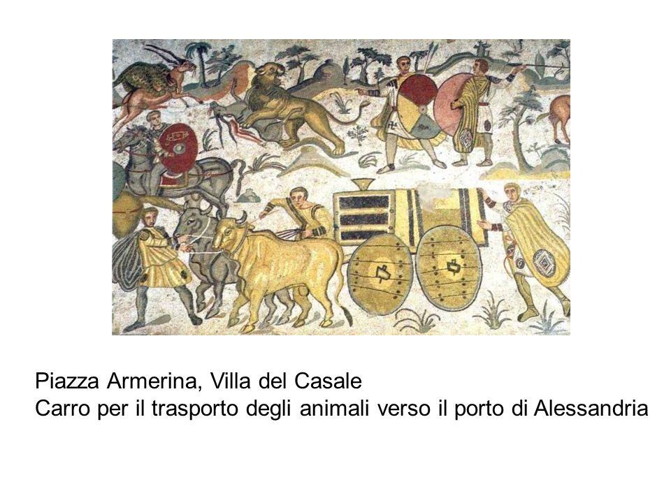 Piazza Armerina, Villa del Casale Carro per il trasporto degli animali verso il porto di Alessandria