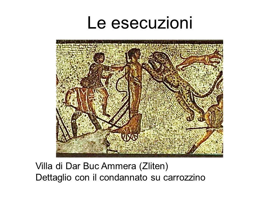 Le esecuzioni Villa di Dar Buc Ammera (Zliten) Dettaglio con il condannato su carrozzino