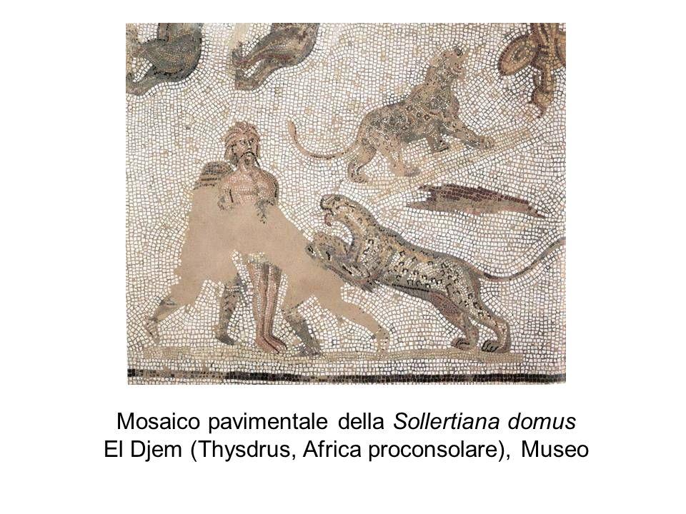 Mosaico pavimentale della Sollertiana domus El Djem (Thysdrus, Africa proconsolare), Museo