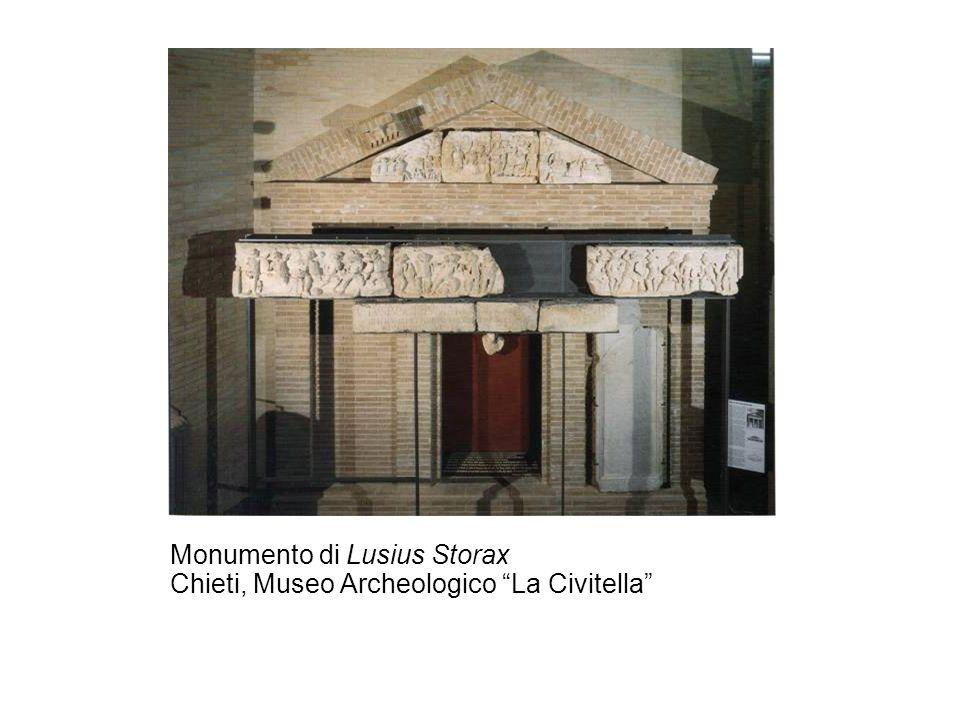 Monumento di Lusius Storax Chieti, Museo Archeologico La Civitella
