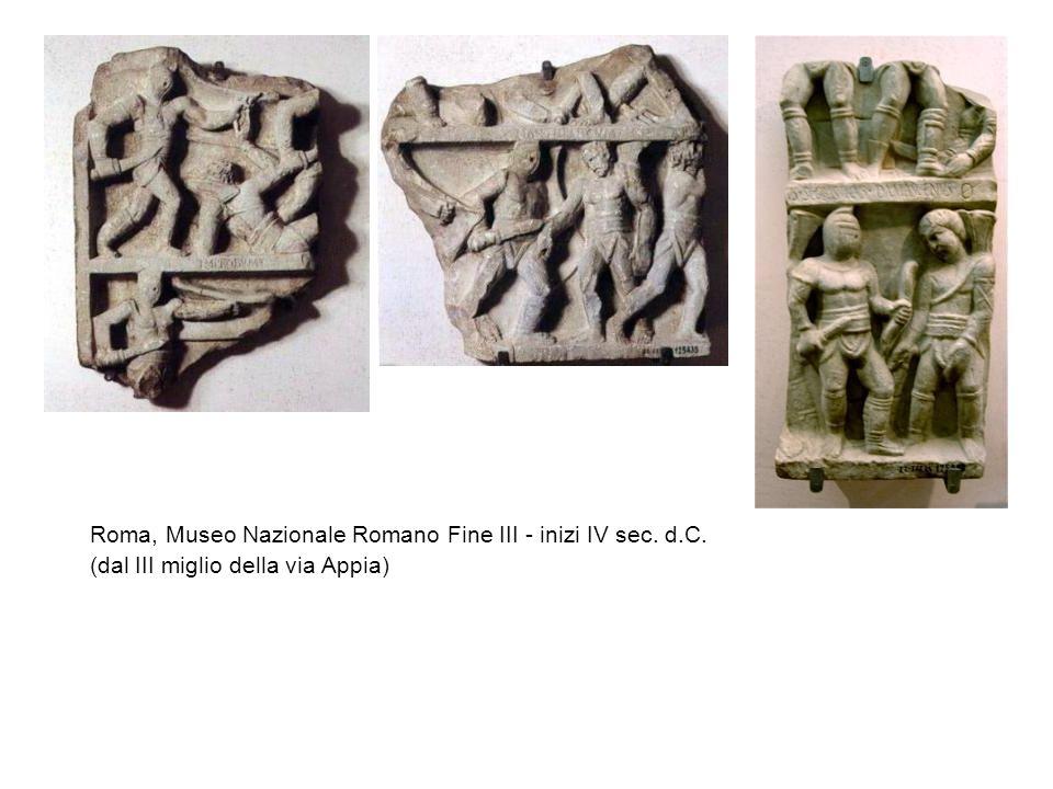 Roma, Museo Nazionale Romano Fine III - inizi IV sec. d.C. (dal III miglio della via Appia)