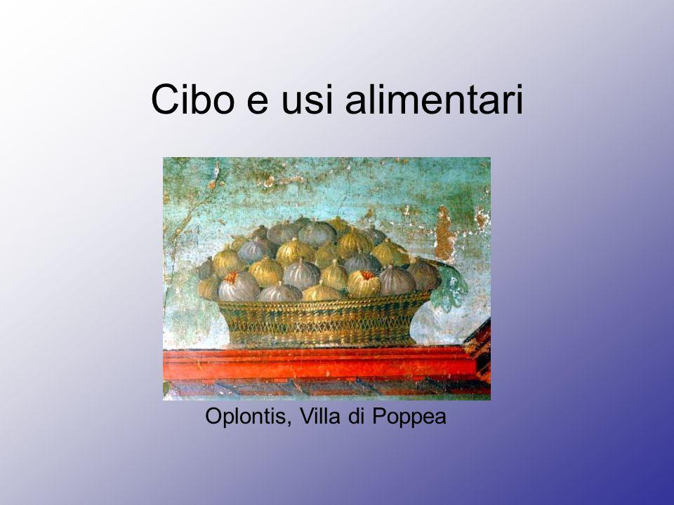 Cibo e usi alimentari Oplontis, Villa di Poppea