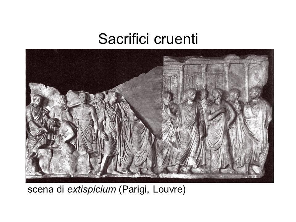 Sacrifici cruenti scena di extispicium (Parigi, Louvre)