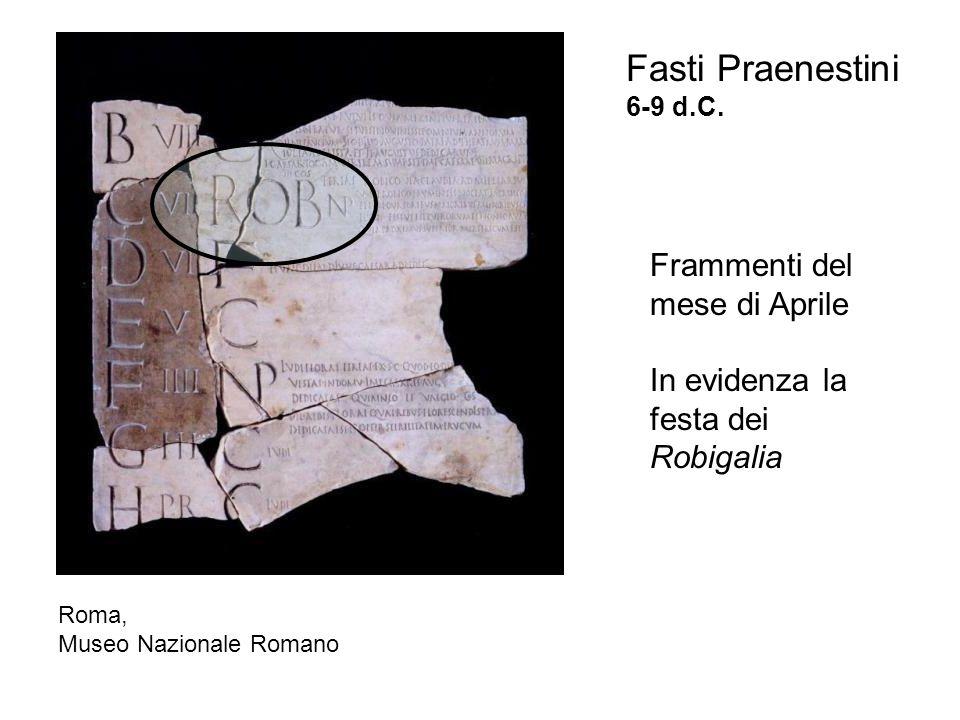 Fasti Praenestini 6-9 d.C.