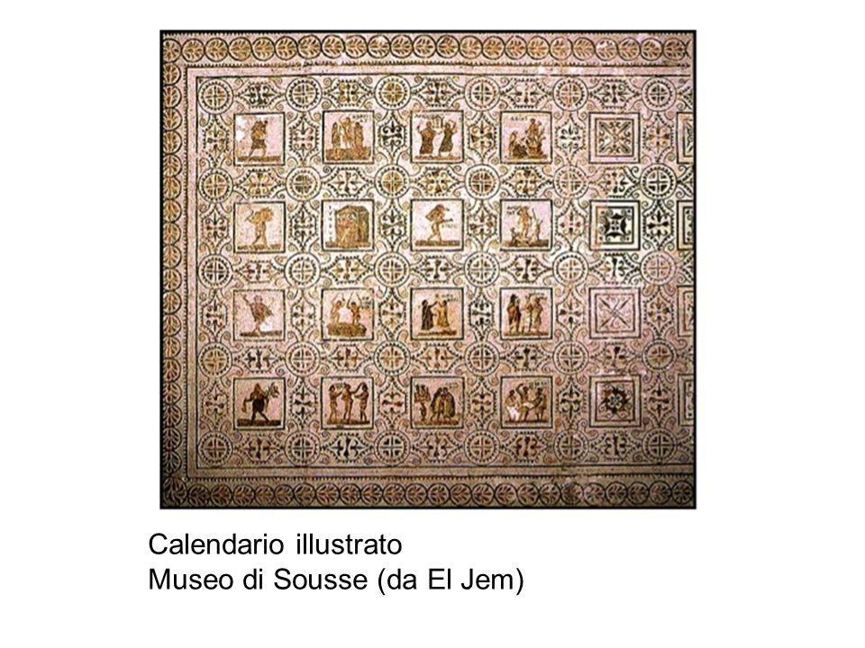 Calendario illustrato Museo di Sousse (da El Jem)