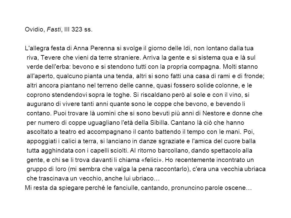 Ovidio, Fasti, III 323 ss.
