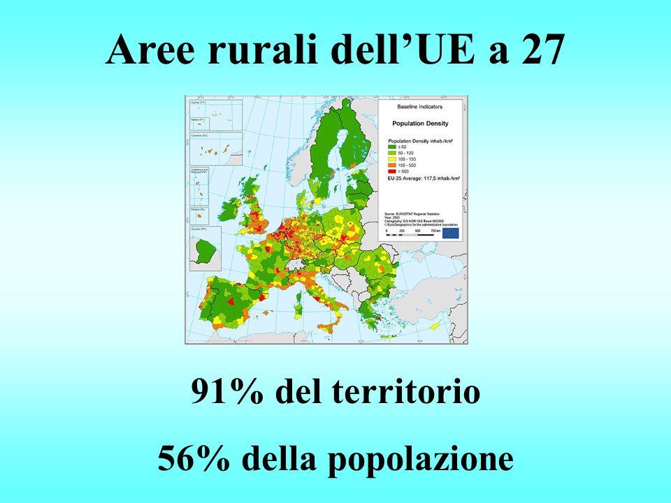 Aree rurali dellUE a 27 91% del territorio 56% della popolazione