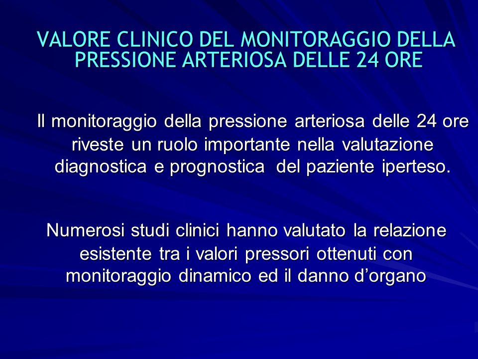 31 VALORE CLINICO DEL MONITORAGGIO DELLA PRESSIONE ARTERIOSA DELLE 24 ORE VALORE CLINICO DEL MONITORAGGIO DELLA PRESSIONE ARTERIOSA DELLE 24 ORE Il mo