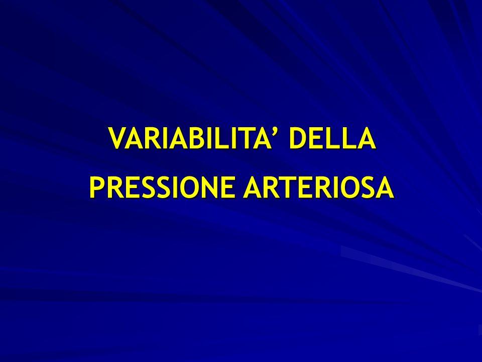 34 VARIABILITA DELLA PRESSIONE ARTERIOSA