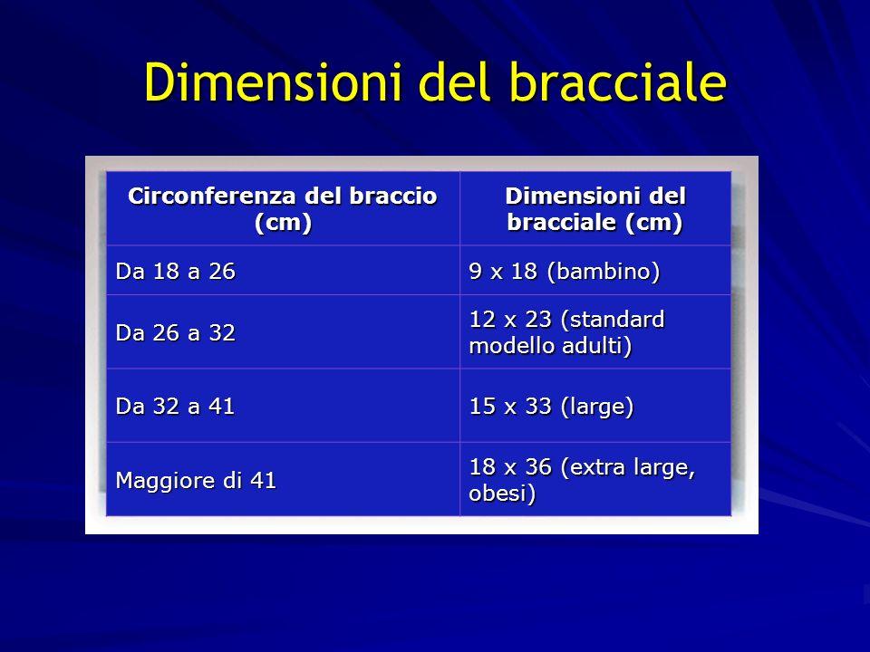 8 Dimensioni del bracciale Circonferenza del braccio (cm) Dimensioni del bracciale (cm) Da 18 a 26 9 x 18 (bambino) Da 26 a 32 12 x 23 (standard model