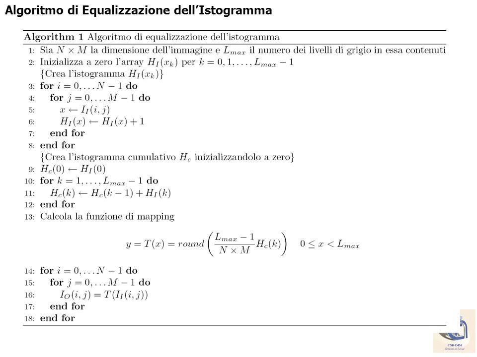 Algoritmo di Equalizzazione dellIstogramma
