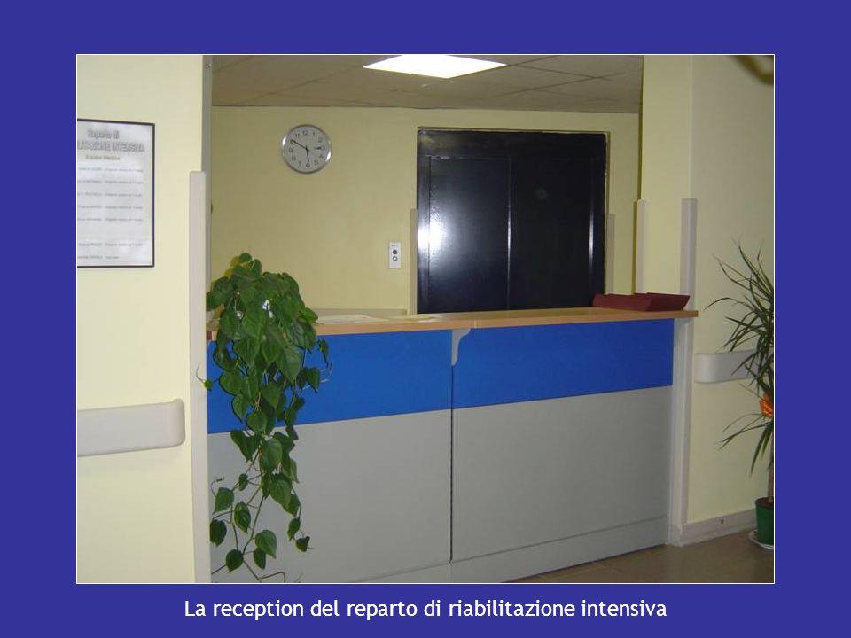La reception del reparto di riabilitazione intensiva