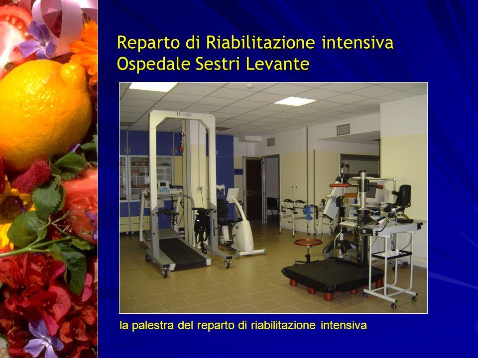 Reparto di Riabilitazione intensiva Ospedale Sestri Levante la palestra del reparto di riabilitazione intensiva