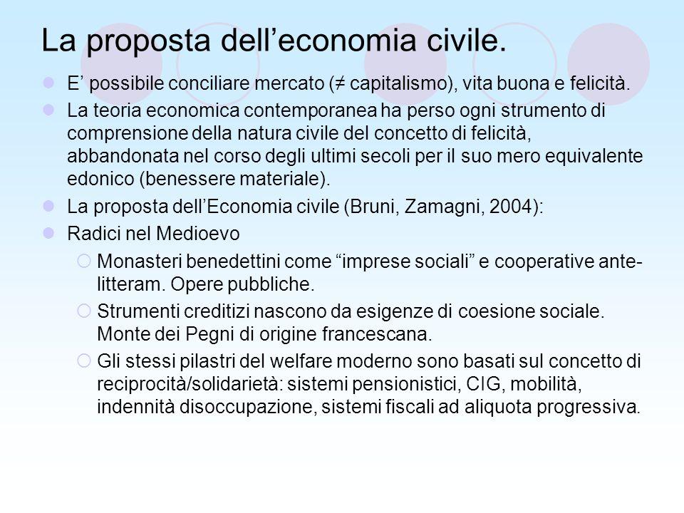 La proposta delleconomia civile.