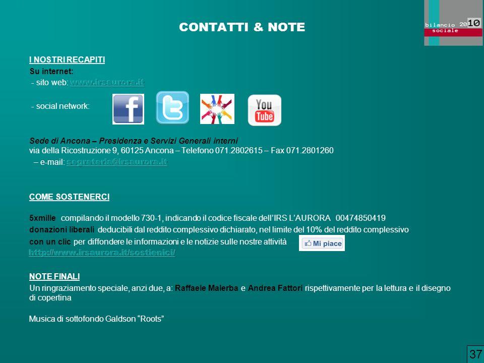CONTATTI & NOTE 37