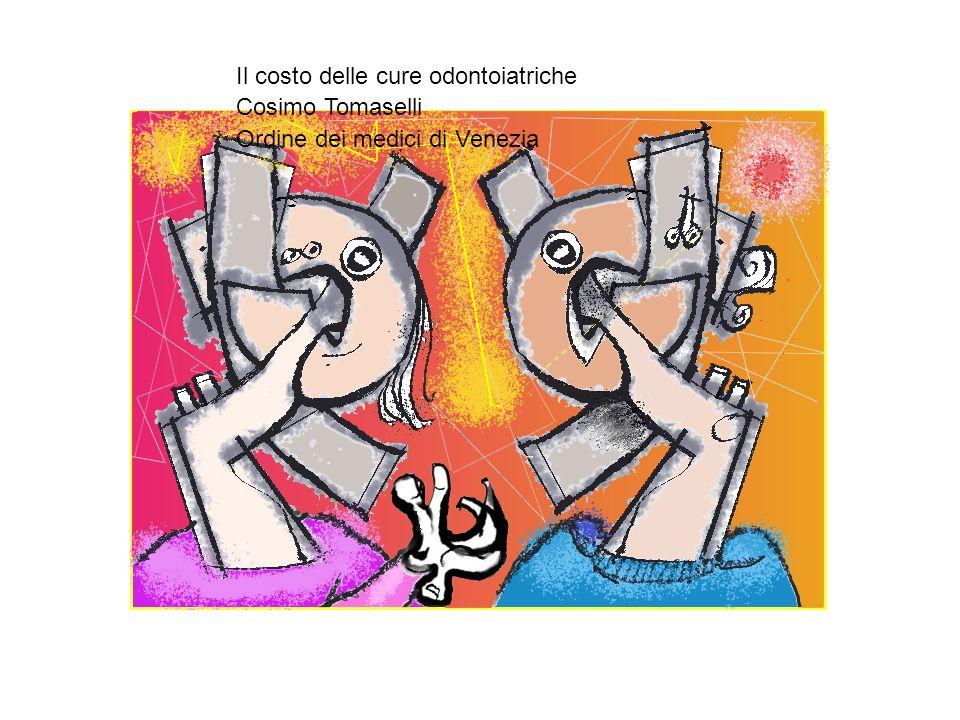 Il costo delle cure Odontoiatriche Assistiamo in questi ultimi tempi ad una crescente preoccupazione per il costo delle cure Odontoiatriche.