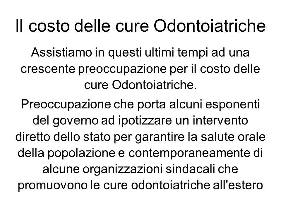 Il costo delle cure Odontoiatriche La Commissione Odontoiatri di Venezia segue con attenzione questa discussione per il proprio ruolo istituzionale di tutela del cittadino e di rappresentanza della professione.