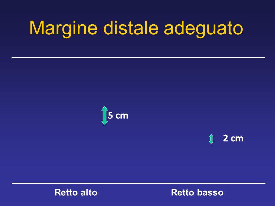 Margine distale adeguato 5 cm 2 cm Retto altoRetto basso