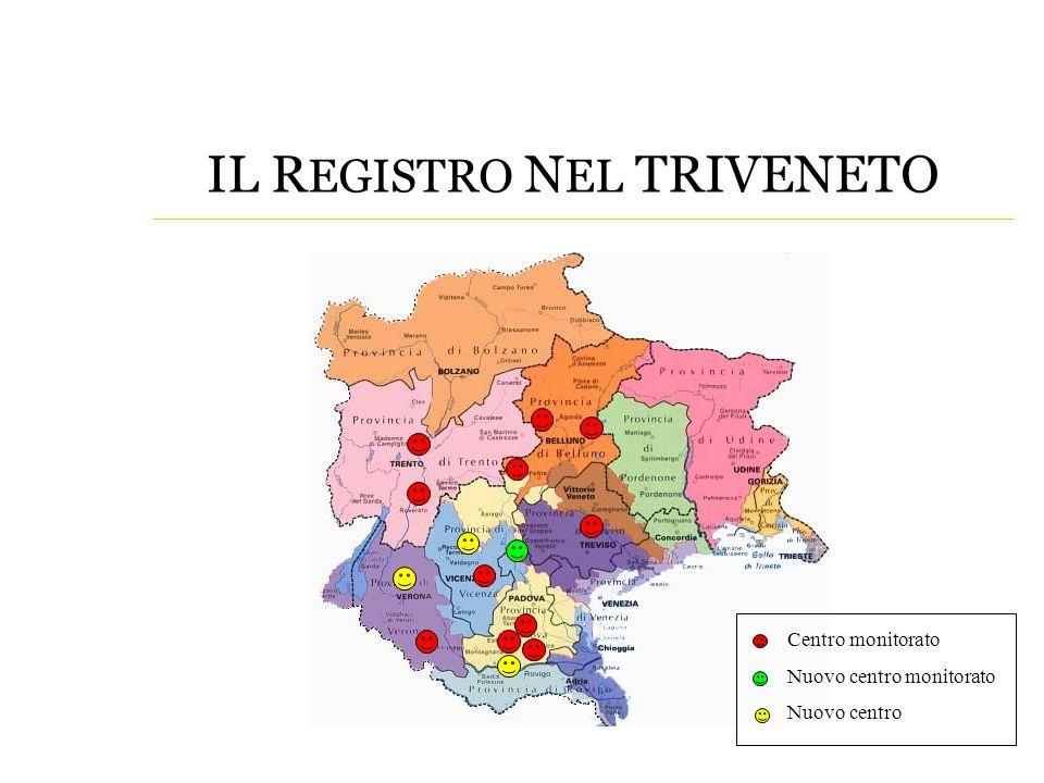 Centro monitorato Nuovo centro monitorato Nuovo centro IL R EGISTRO N EL TRIVENETO
