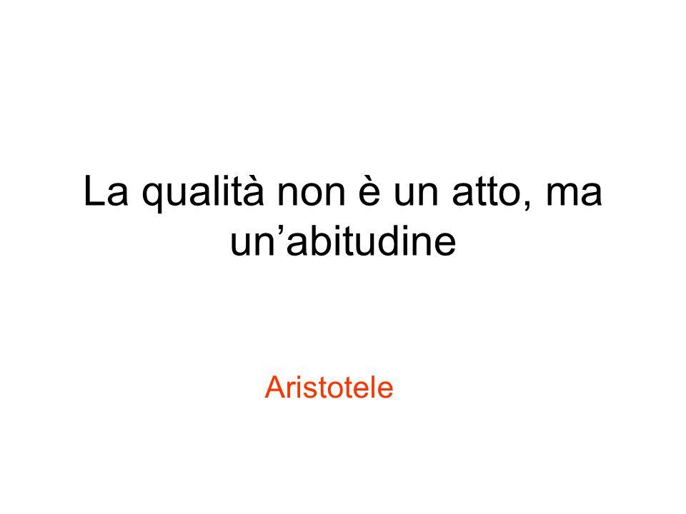La qualità non è un atto, ma unabitudine Aristotele
