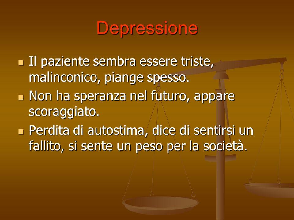 Disturbi dansia Ansia nel contesto di una depressione Ansia nel contesto di una depressione Ansia come disturbo generalizzato secondo il DSM-IV-TR Ans