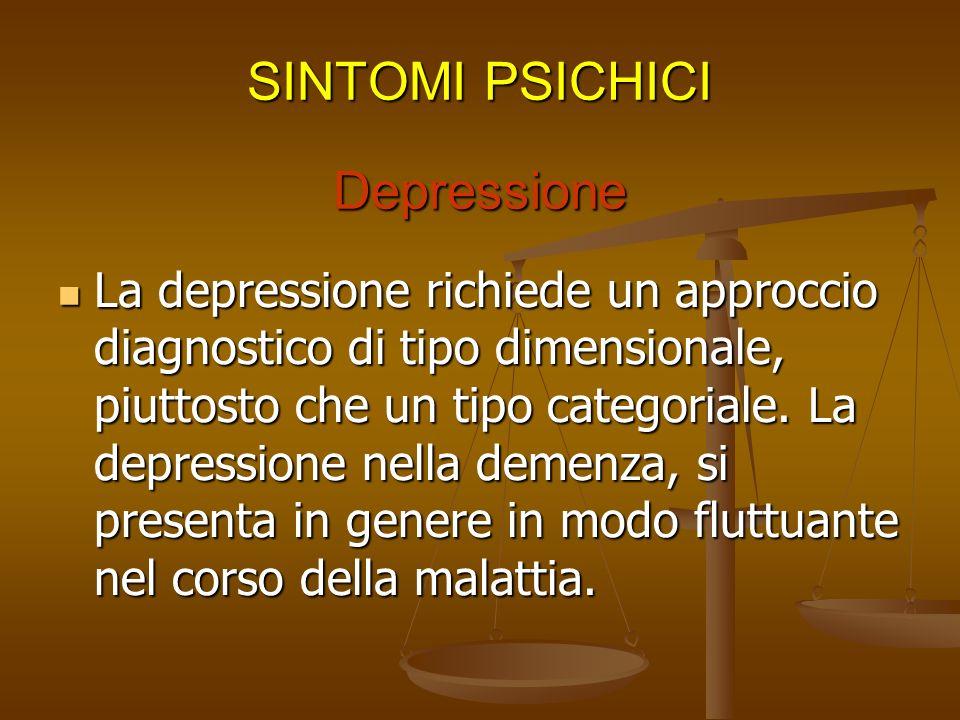 Depressione Il paziente sembra essere triste, malinconico, piange spesso. Il paziente sembra essere triste, malinconico, piange spesso. Non ha speranz