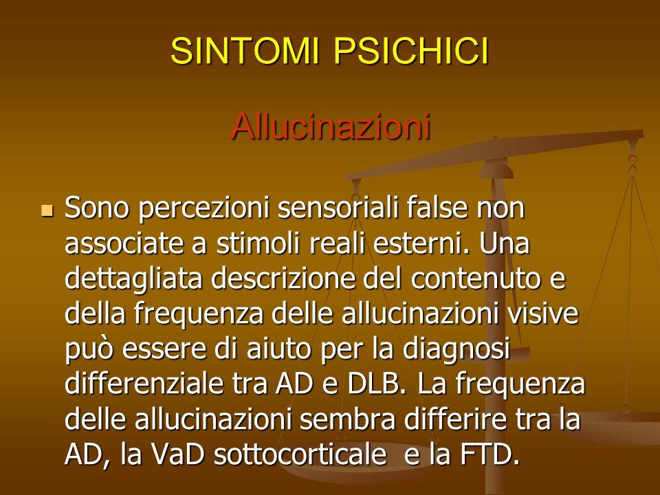 Esempi di misidentificazioni di persone o luoghi. Esempi di entità Sindrome di Capgras Sindrome di Fregoli Intemetamorfosi misidentificate------------