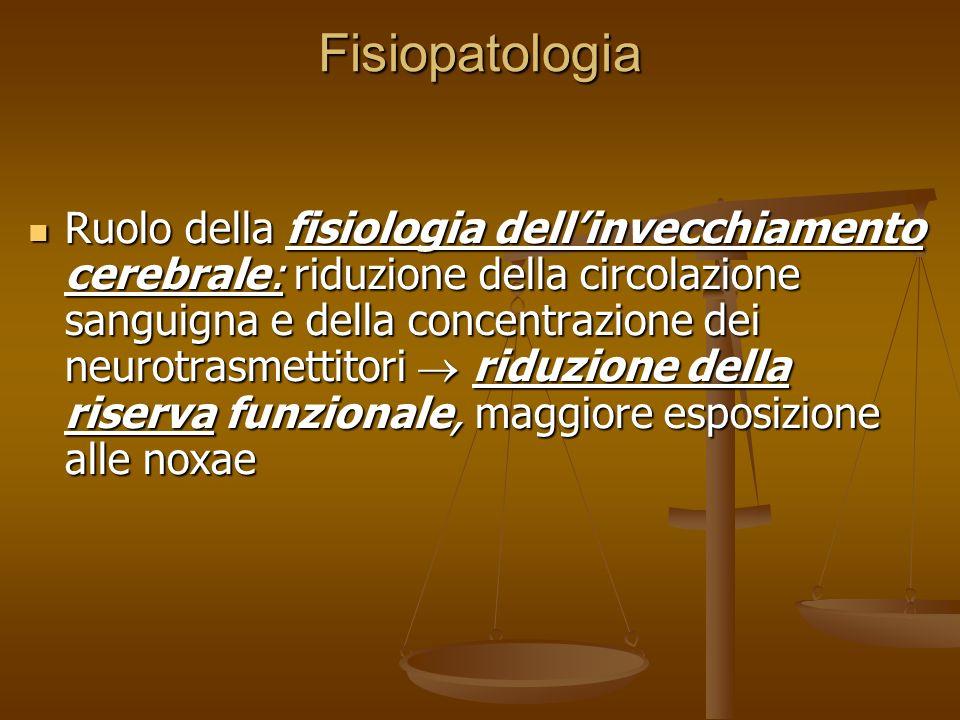 Fisiopatologia d) 5-HT: Variazioni nella sua attività sono associate allinsorgenza di delirium Variazioni nella sua attività sono associate allinsorge