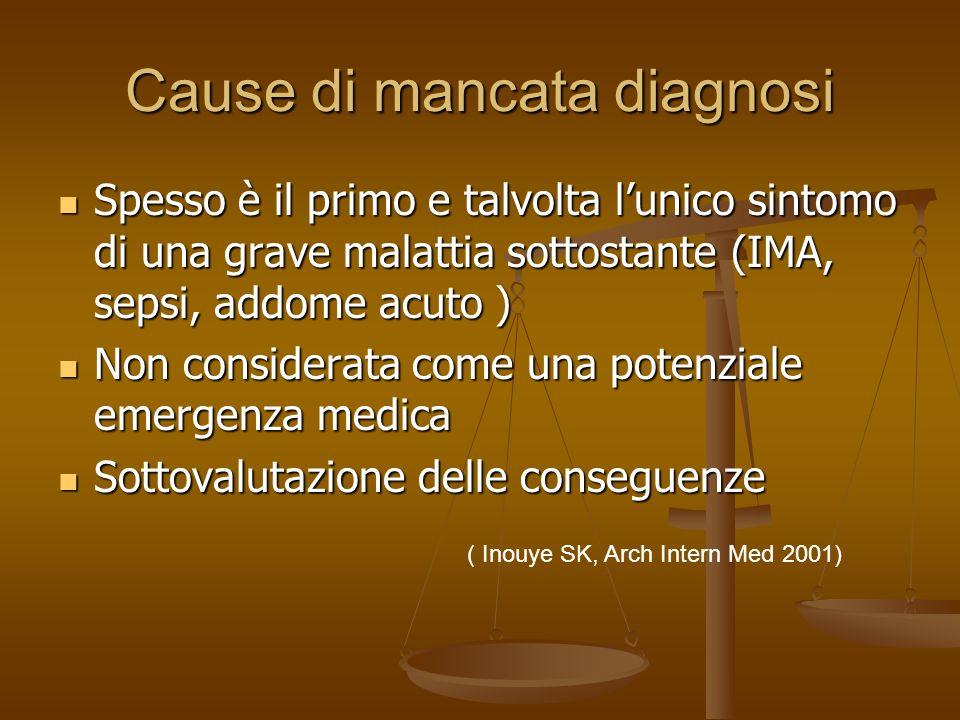 Cause di mancata diagnosi Natura fluttuante e prevalenza del tipo letargico Natura fluttuante e prevalenza del tipo letargico Sovrapposizione con la d
