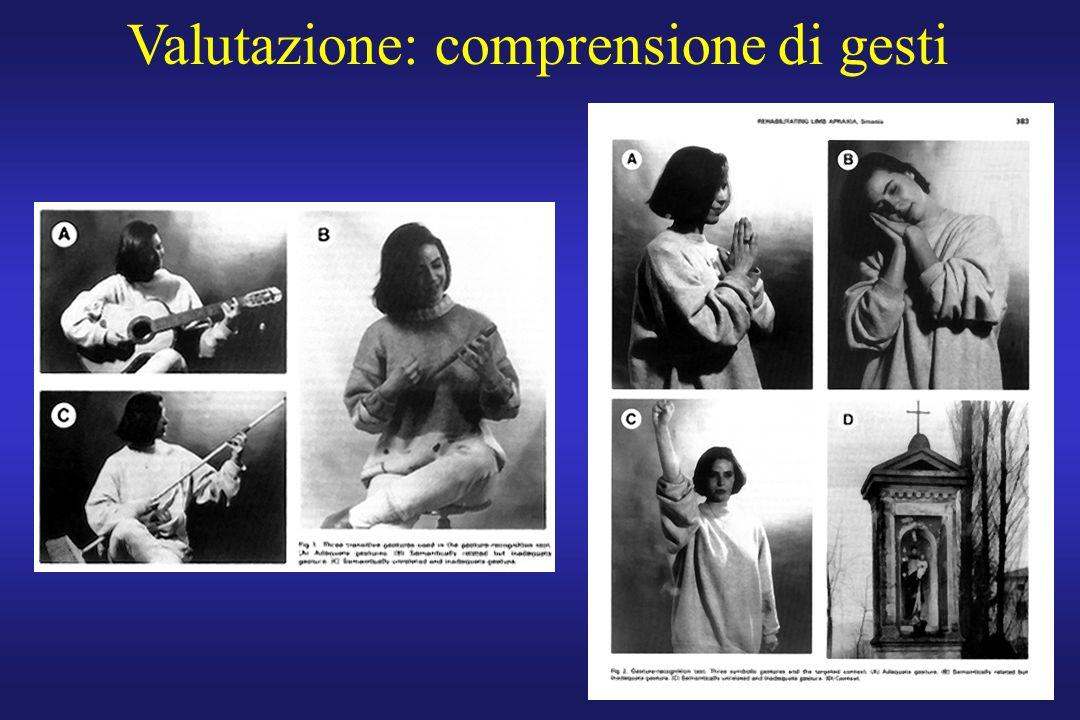 Valutazione: comprensione di gesti