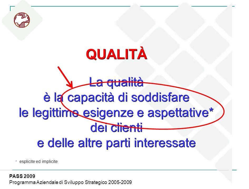 QUALITÀ La qualità è la capacità di soddisfare le legittime esigenze e aspettative* dei clienti e delle altre parti interessate QUALITÀ La qualità è l