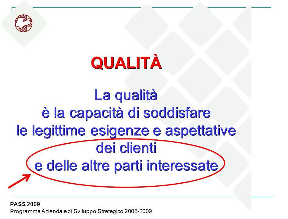 QUALITÀ La qualità è la capacità di soddisfare le legittime esigenze e aspettative dei clienti e delle altre parti interessate QUALITÀ La qualità è la