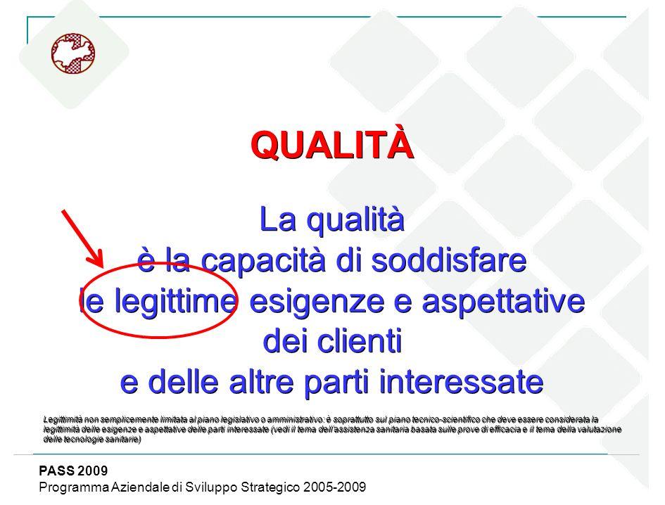 QUALITÀ La qualità è la capacità di soddisfare le legittime esigenze e aspettative dei clienti e delle altre parti interessate Legittimità non semplic
