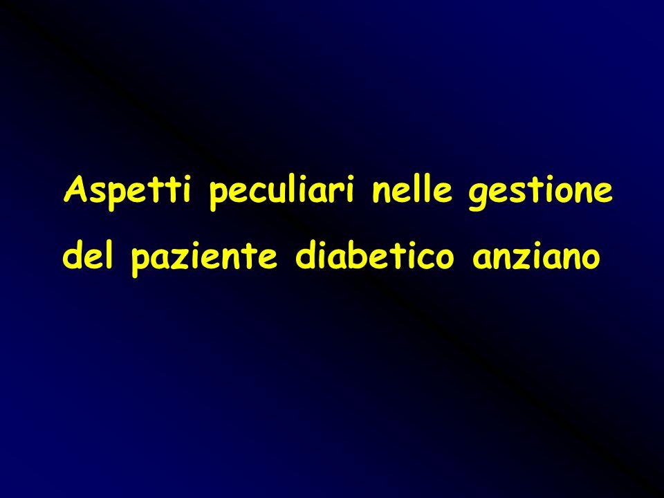 Aspetti peculiari nelle gestione del paziente diabetico anziano