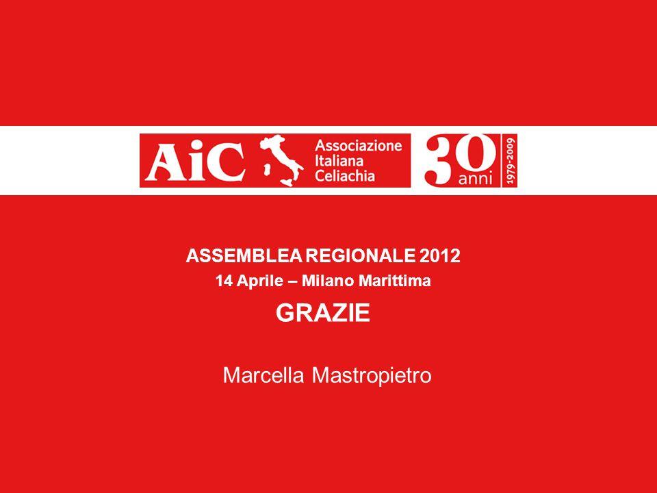 13 ASSEMBLEA REGIONALE 2012 14 Aprile – Milano Marittima GRAZIE Marcella Mastropietro