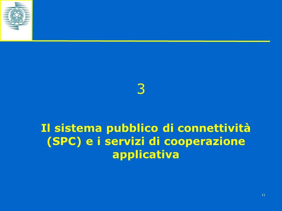 3 Il sistema pubblico di connettività (SPC) e i servizi di cooperazione applicativa 11