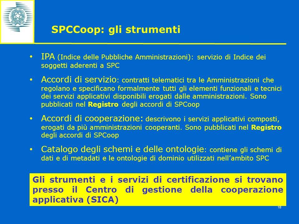 IPA (Indice delle Pubbliche Amministrazioni): servizio di Indice dei soggetti aderenti a SPC Accordi di servizio : contratti telematici tra le Amminis