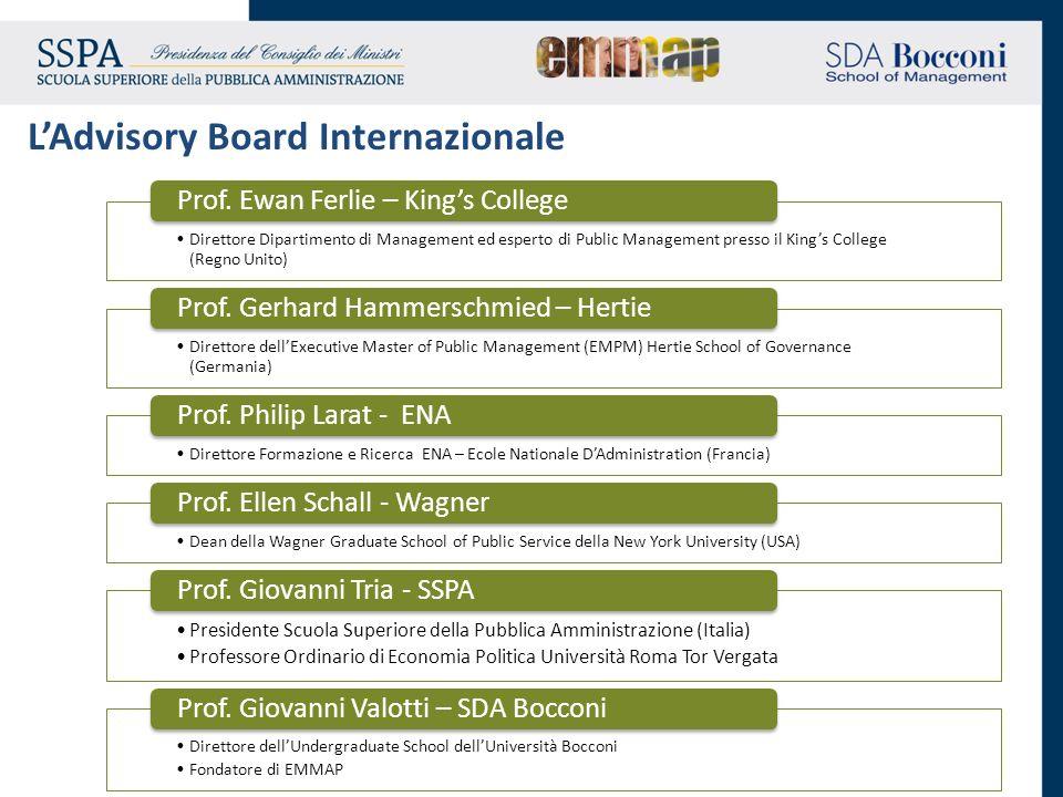Direttore Dipartimento di Management ed esperto di Public Management presso il Kings College (Regno Unito) Prof. Ewan Ferlie – Kings College Direttore