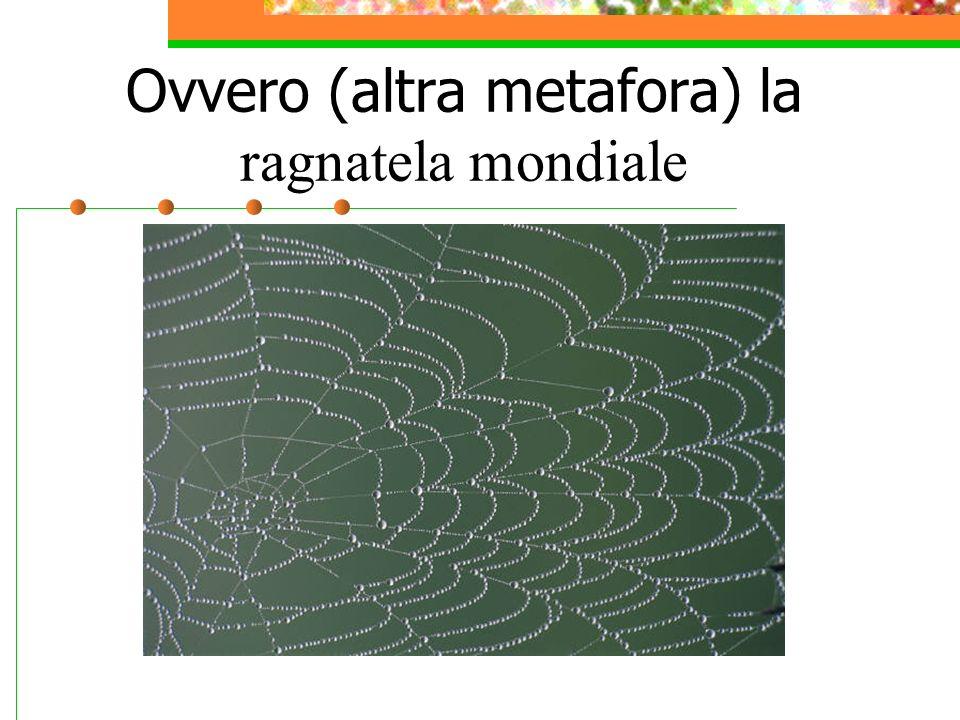 Ovvero (altra metafora) la ragnatela mondiale