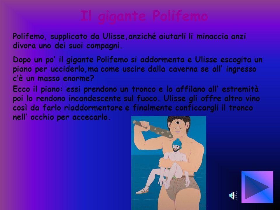 L isola dei Ciclopi Ulisse durante il banchetto nella reggia di Alcinoo racconta le sue avventure. Durante le tempeste in mare Ulisse e i suoi compagn