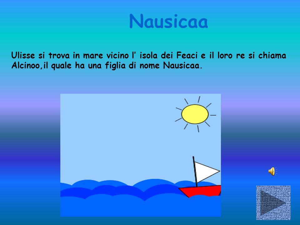 Nausicaa Ulisse si trova in mare vicino l isola dei Feaci e il loro re si chiama Alcinoo,il quale ha una figlia di nome Nausicaa.