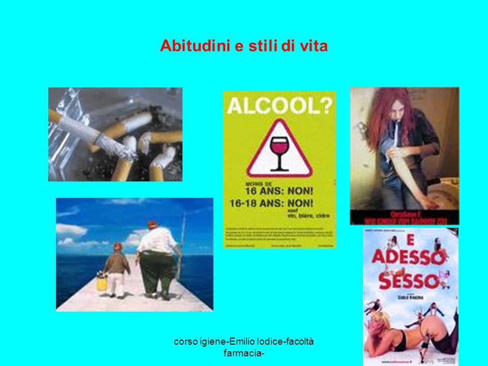 corso igiene-Emilio Iodice-facoltà farmacia- Abitudini e stili di vita