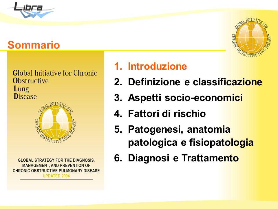 1.Introduzione 2.Definizione e classificazione 3.Aspetti socio-economici 4.Fattori di rischio 5.Patogenesi, anatomia patologica e fisiopatologia 6.Diagnosi e Trattamento Sommario