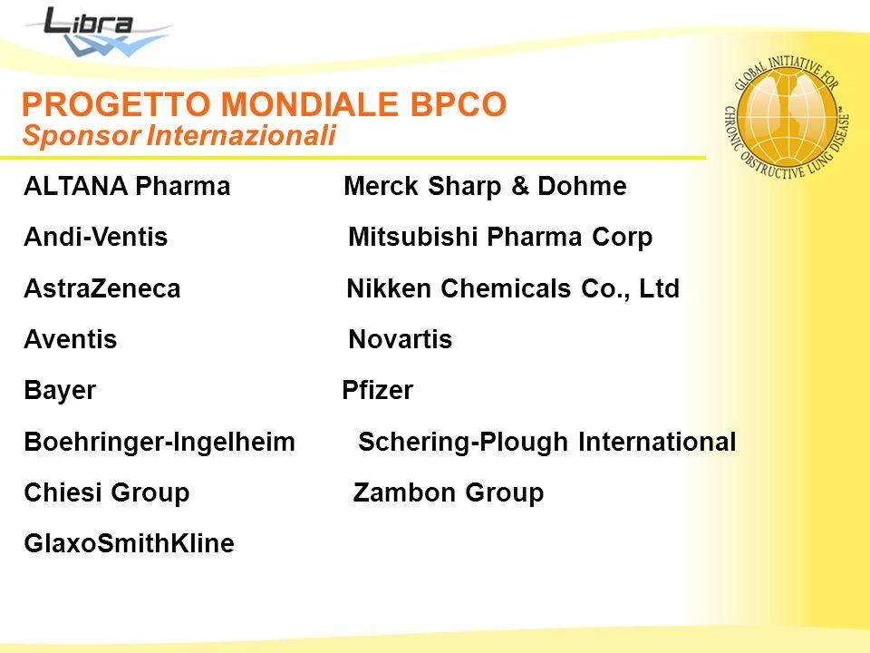 PROGETTO MONDIALE BPCO Sponsor Nazionali
