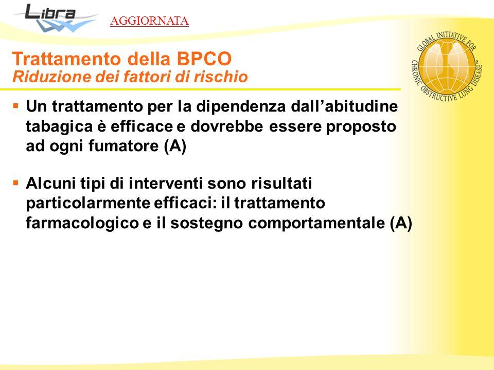 Un trattamento per la dipendenza dallabitudine tabagica è efficace e dovrebbe essere proposto ad ogni fumatore (A) Alcuni tipi di interventi sono risu