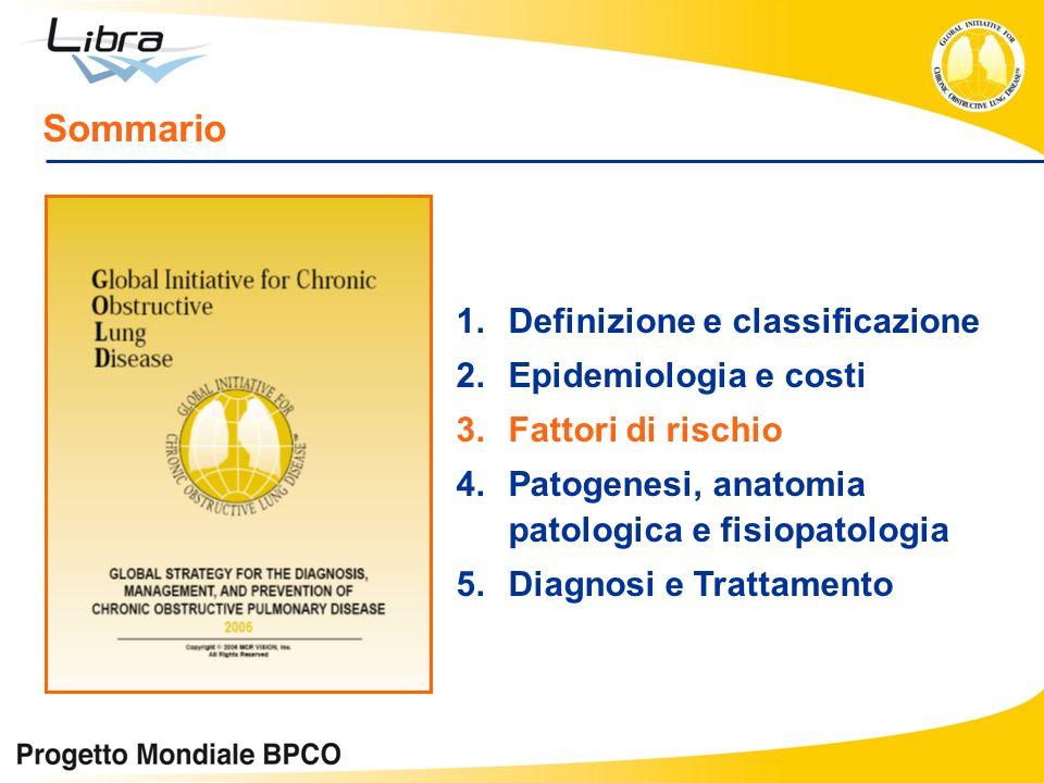 1.Definizione e classificazione 2.Epidemiologia e costi 3.Fattori di rischio 4.Patogenesi, anatomia patologica e fisiopatologia 5.Diagnosi e Trattamen