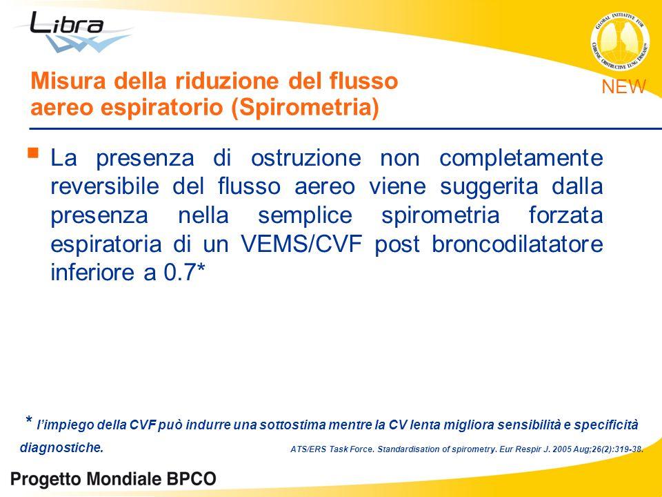 La presenza di ostruzione non completamente reversibile del flusso aereo viene suggerita dalla presenza nella semplice spirometria forzata espiratoria