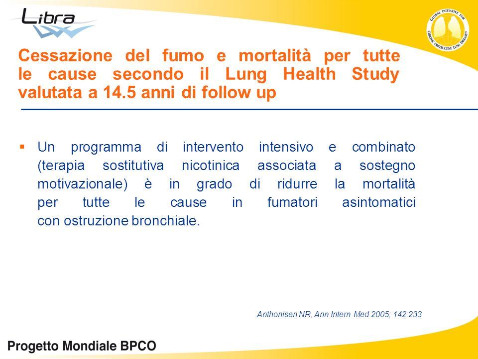 Cessazione del fumo e mortalità per tutte le cause secondo il Lung Health Study valutata a 14.5 anni di follow up Un programma di intervento intensivo