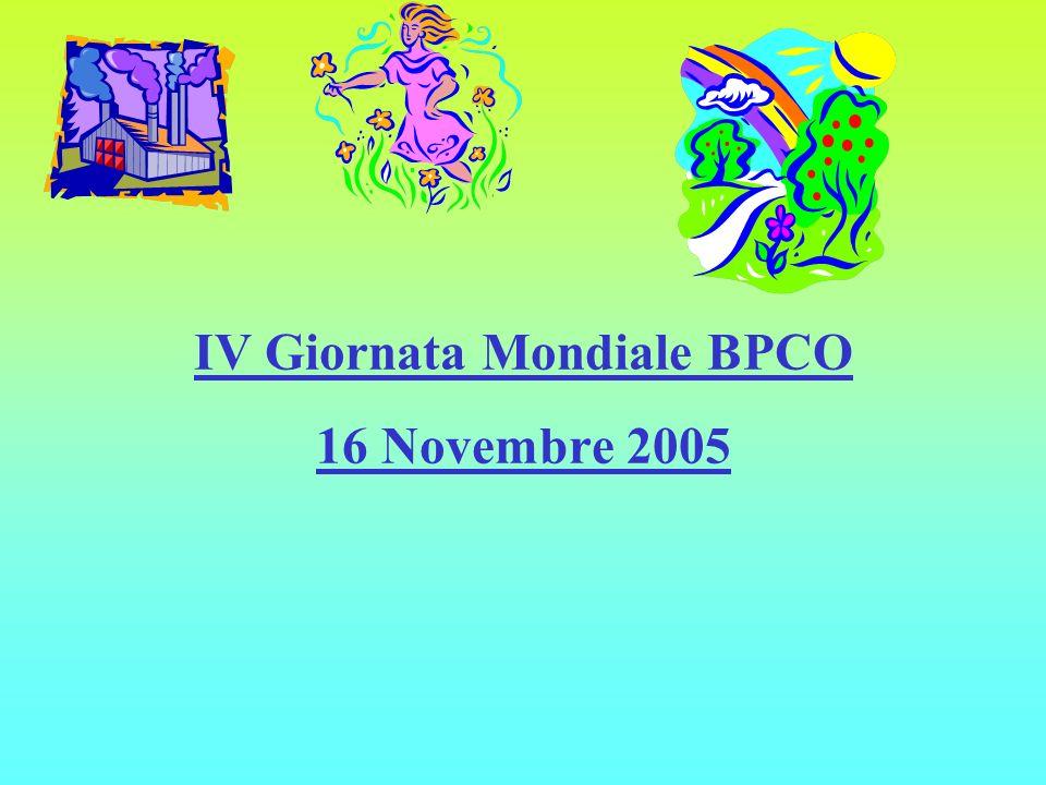 MINISTERO DELLA SALUTE IV Giornata Mondiale BPCO 16 Novembre 2005